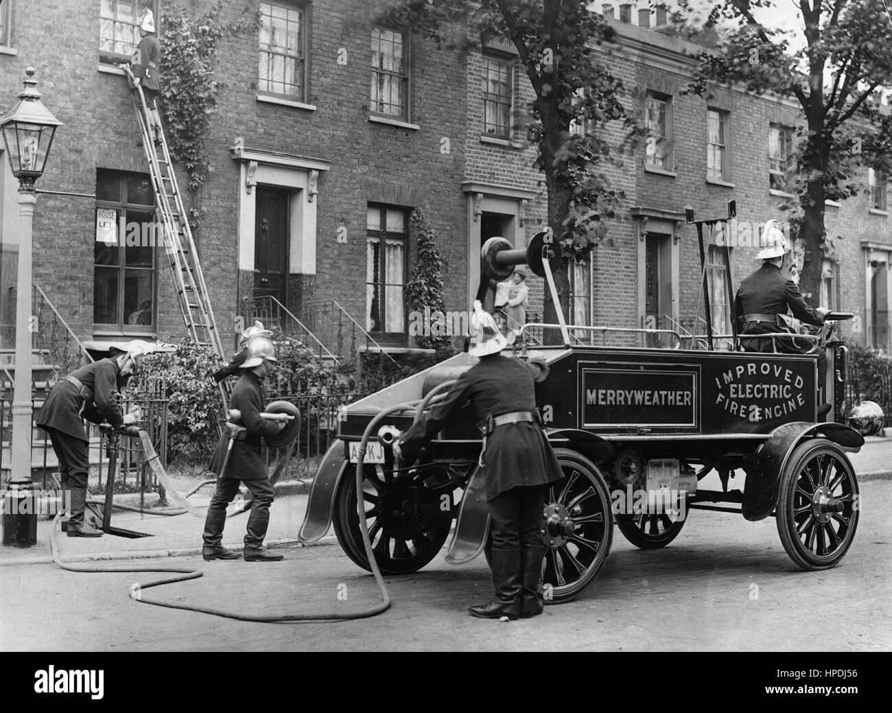 1900 Merryweather electric fire engine - Stock Image