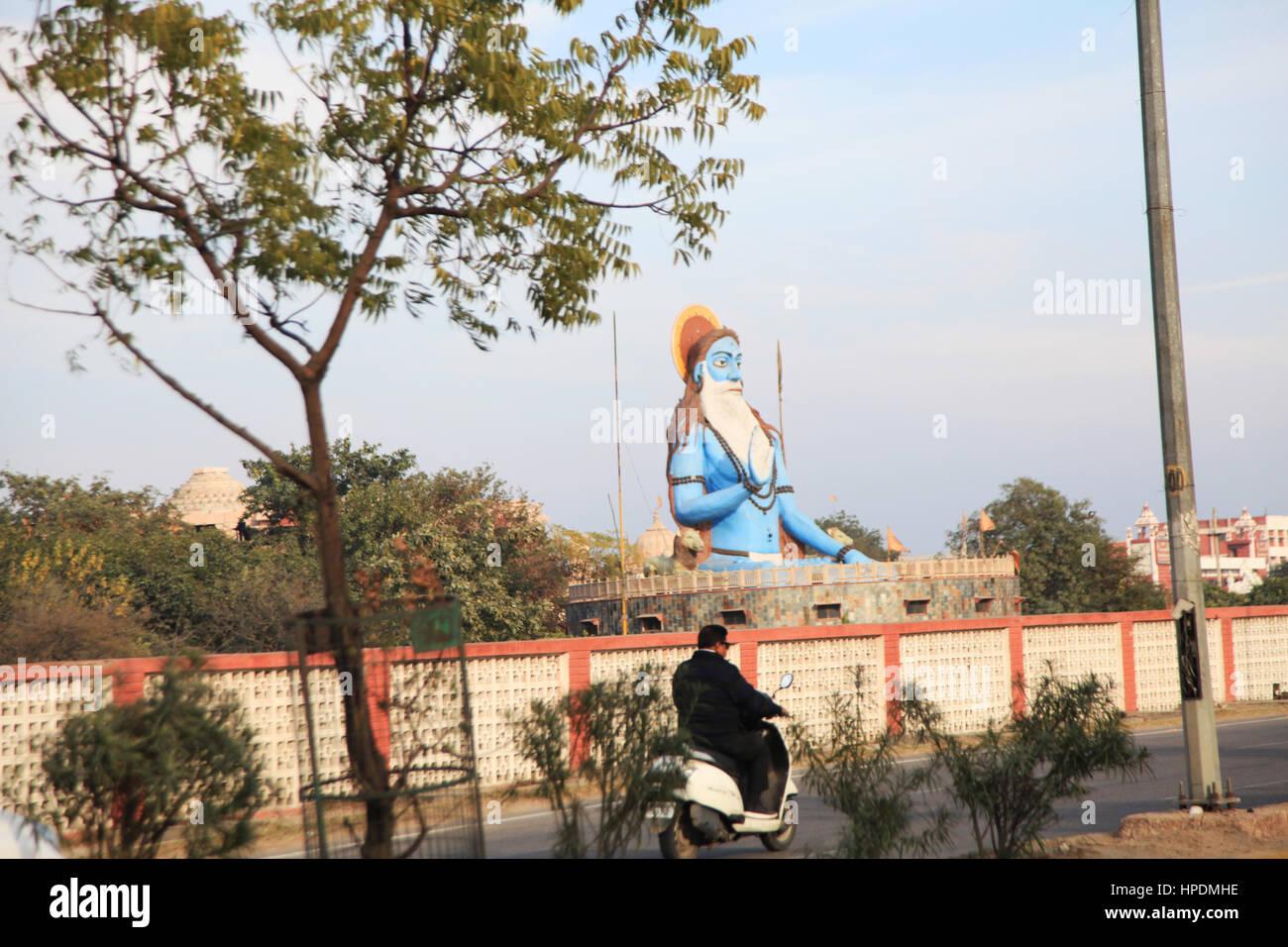Statue at Asthal Bohar in Rohtak, India,  (Photo Copyright © by Saji Maramon) - Stock Image