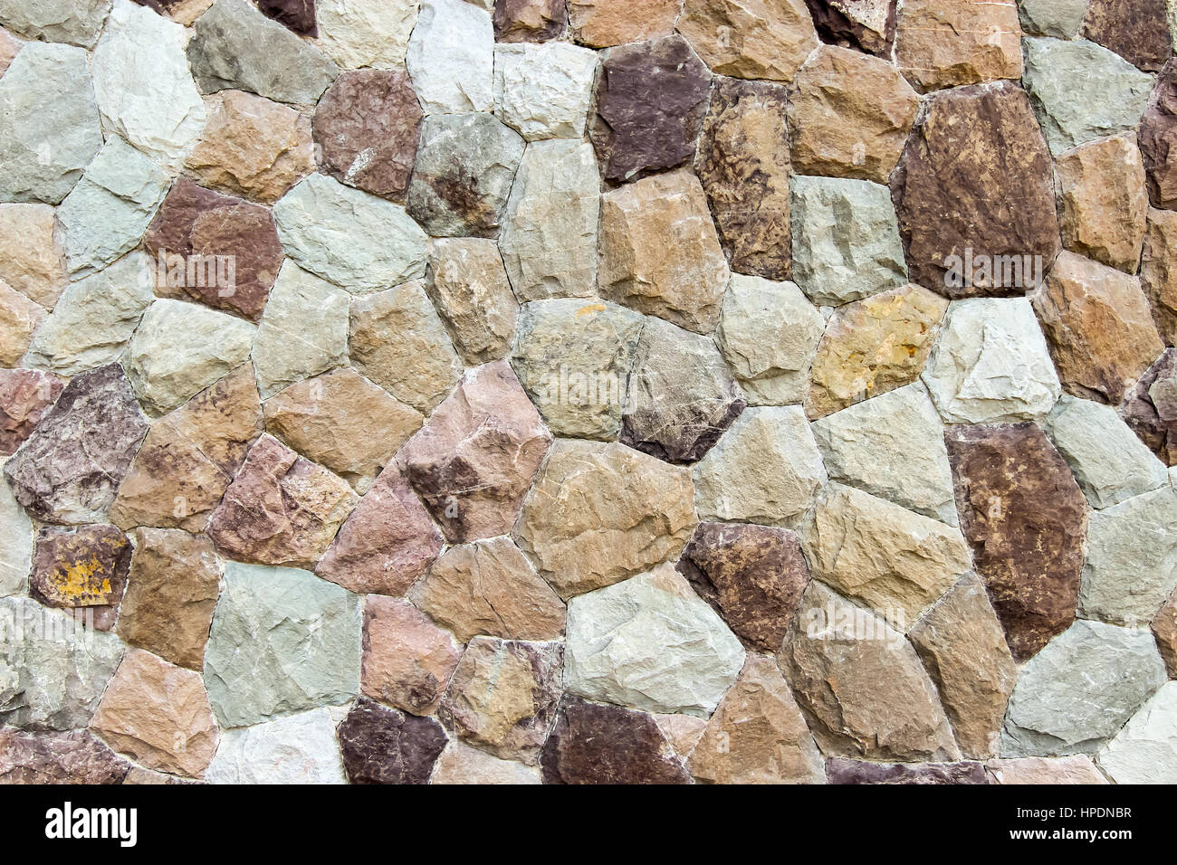 Closed up background of Rock wall, stone wall - Stock Image