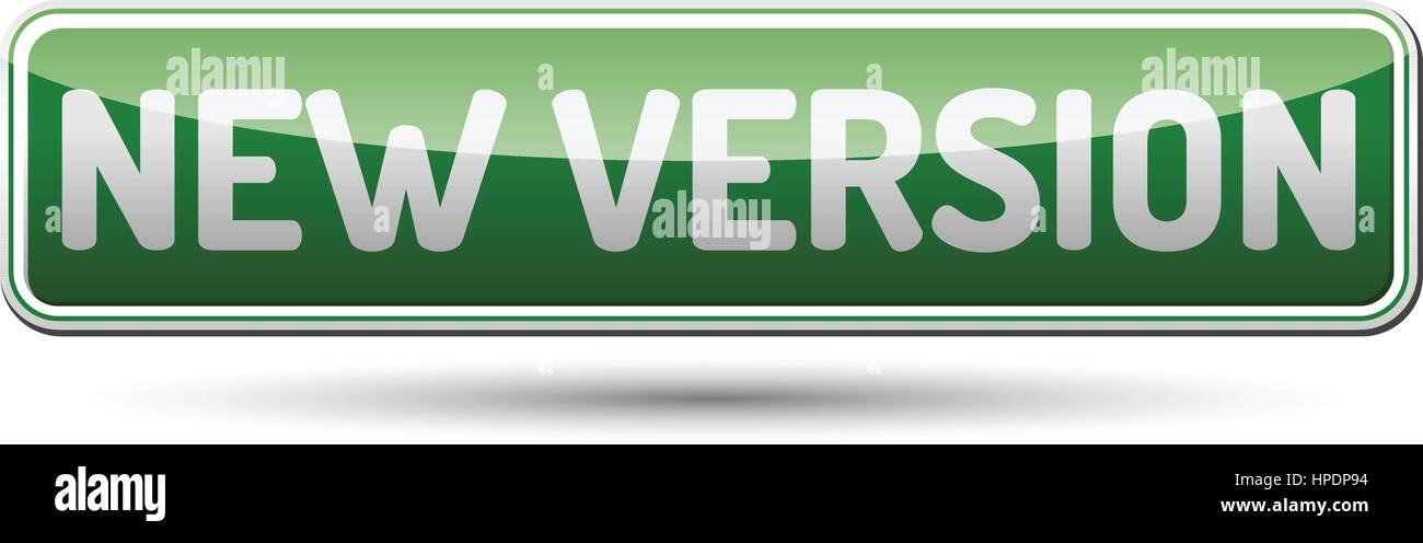 New Version Button - Stock Image