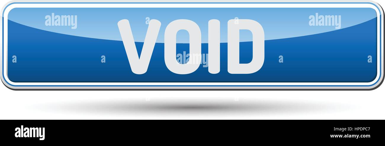 VOID - Abstract beautiful button with text. - Stock Image