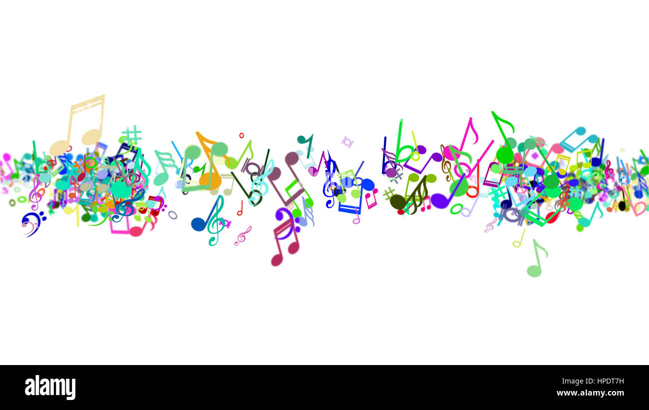 colorful music note clipart - colored music note clip art PNG image with  transparent background | TOPpng