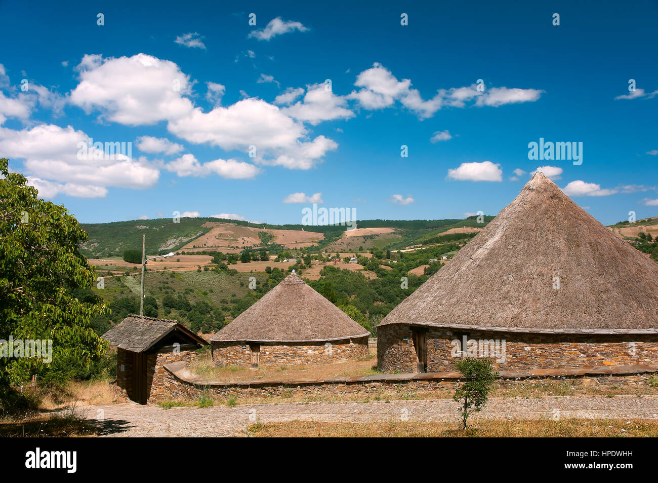 Sierra de los Ancares Biosphere Reserve-etnographic museum, San Roman-Cervantes, Lugo province, Region of Galicia, - Stock Image