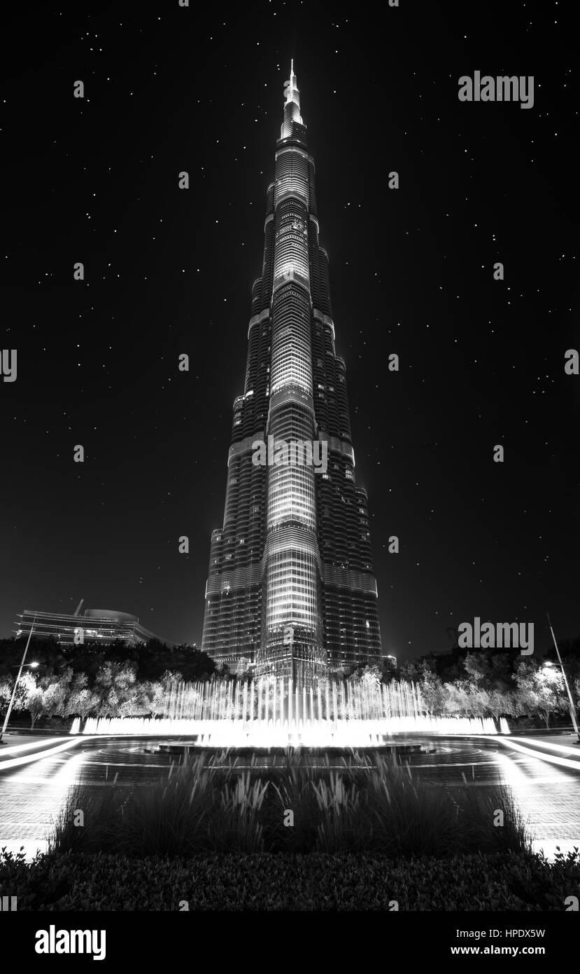 The Amazing Burj Khalifa skyscraper - Stock Image