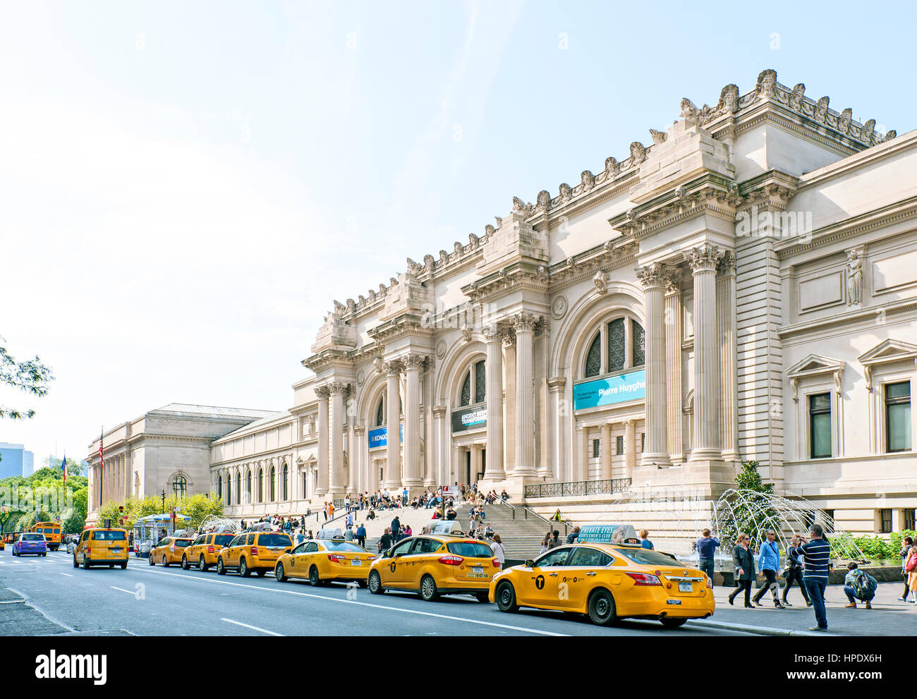 The Metropolitan Museum of Art, the Met Museum Exterior, Fifth Avenue, New York City - Stock Image