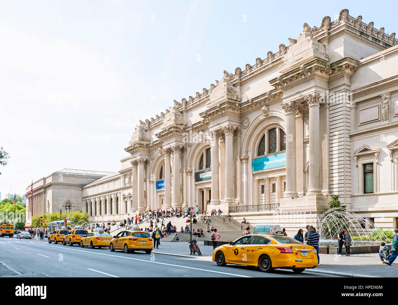 The Metropolitan Museum of Art, the Met Museum Exterior, Fifth Avenue, New York City - Stock Image