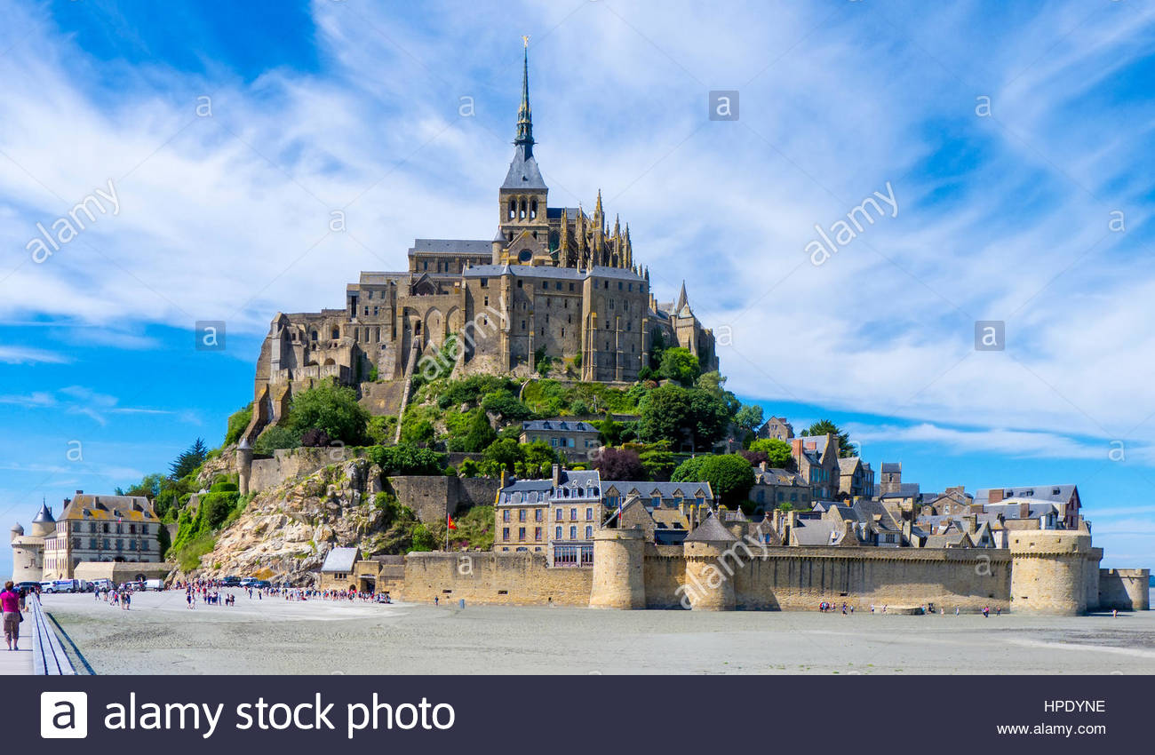 France, Normandy (Normandie), Manche department, Le Mont-Saint-Miichel. Abbaye du Mont-Saint-Michel, UNESCO World - Stock Image