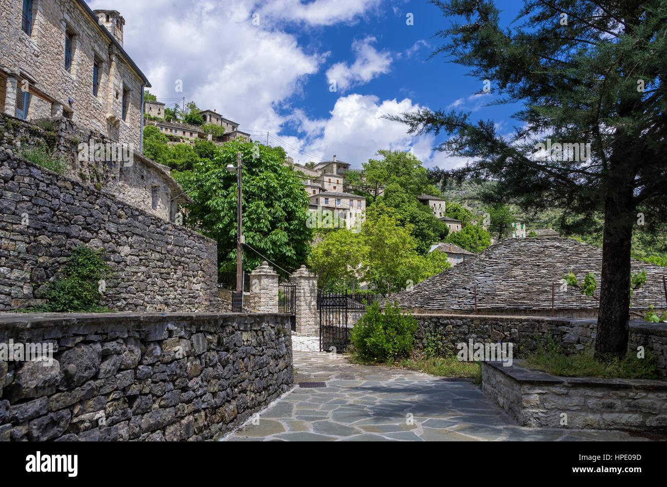 Syrrako village, Tzoumerka, Epirus, Greece - Stock Image