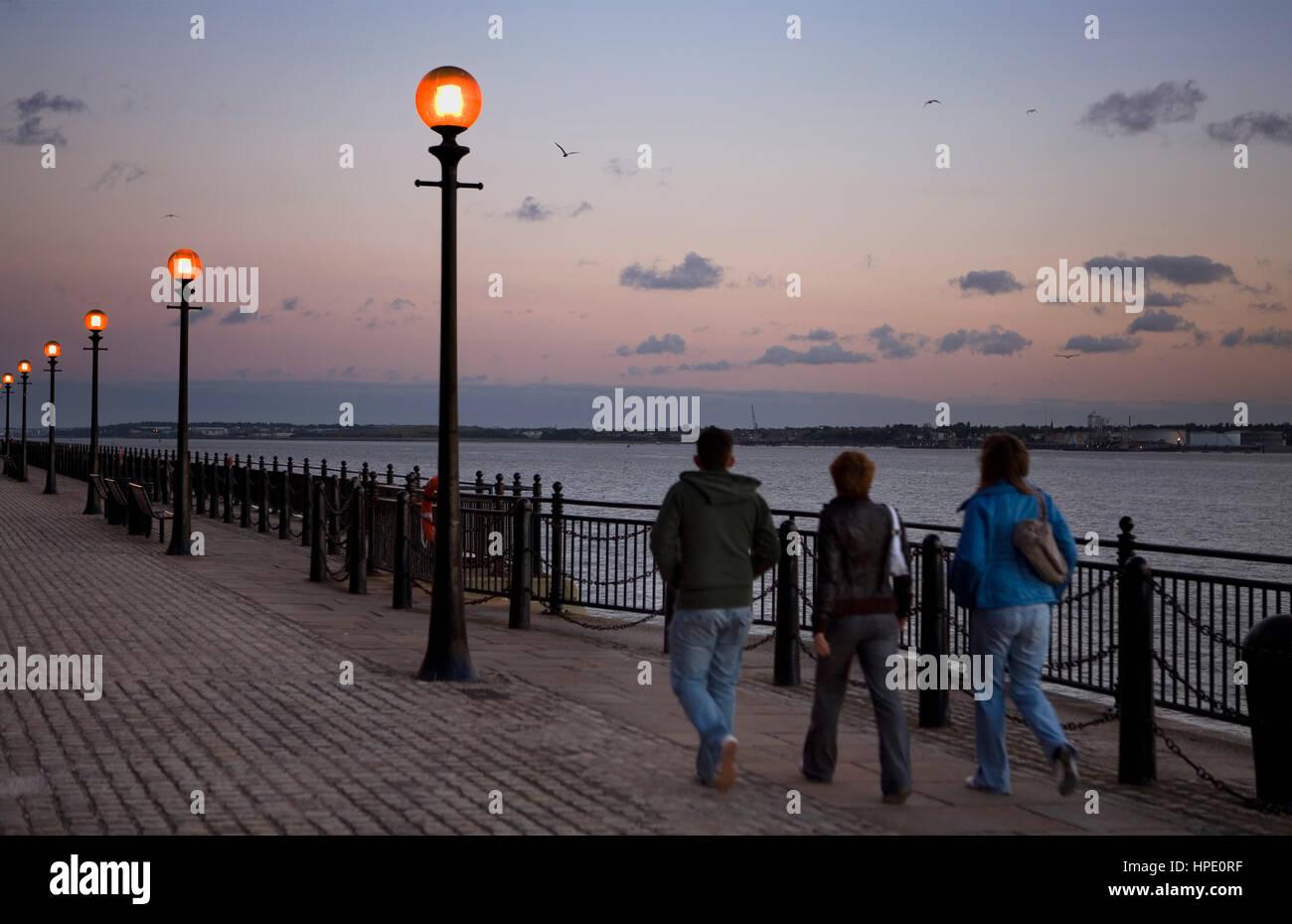 Mersey river, near Albert Dock.Liverpool. England. UK - Stock Image