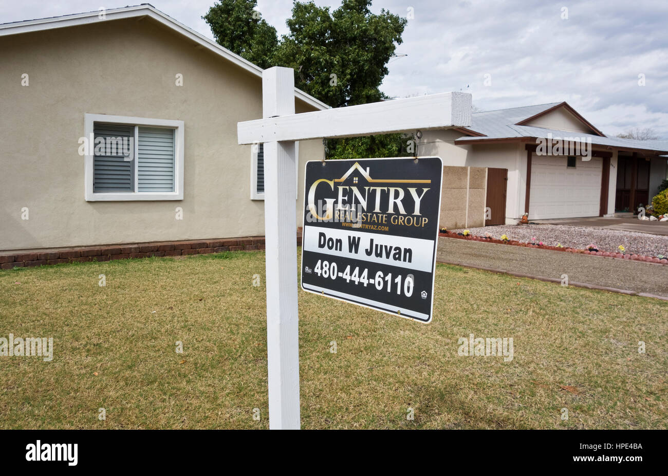 House for sale in Phoenix Arizona Stock Photo
