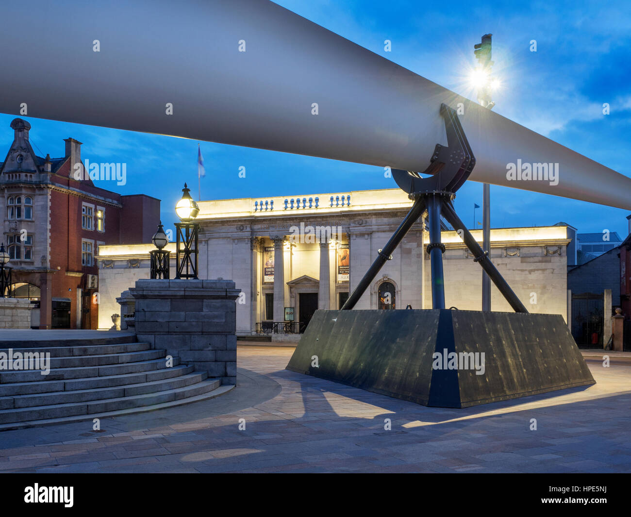 Blade Sculpture in front of Ferens Art Gallery in Queen Victoria Square for Hull UK City of Culture 2017 Hull Yorkshire - Stock Image