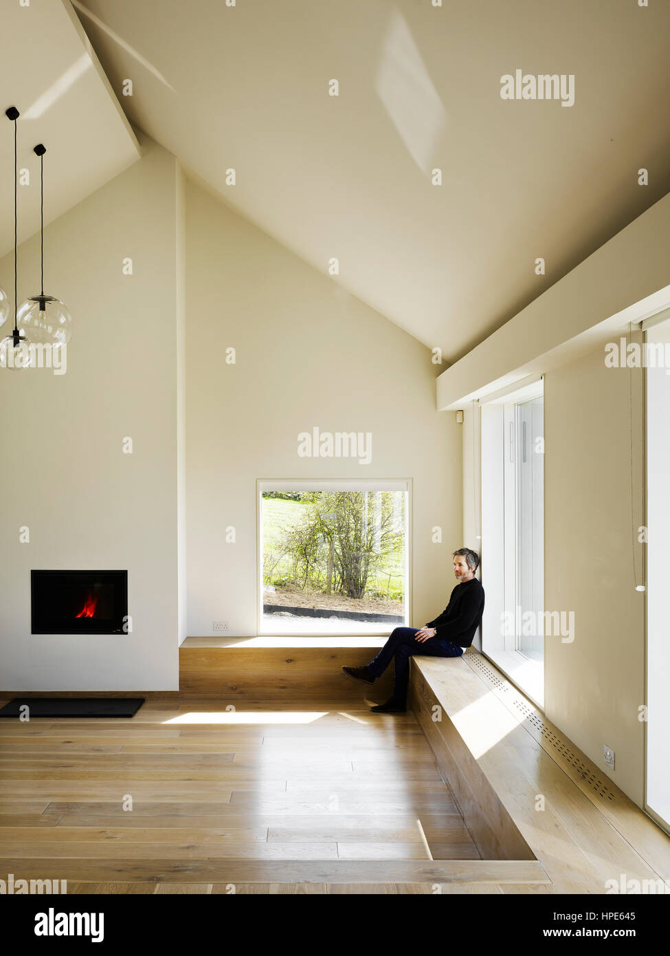 View of living area with sunken living space. Killowen House Stock ...