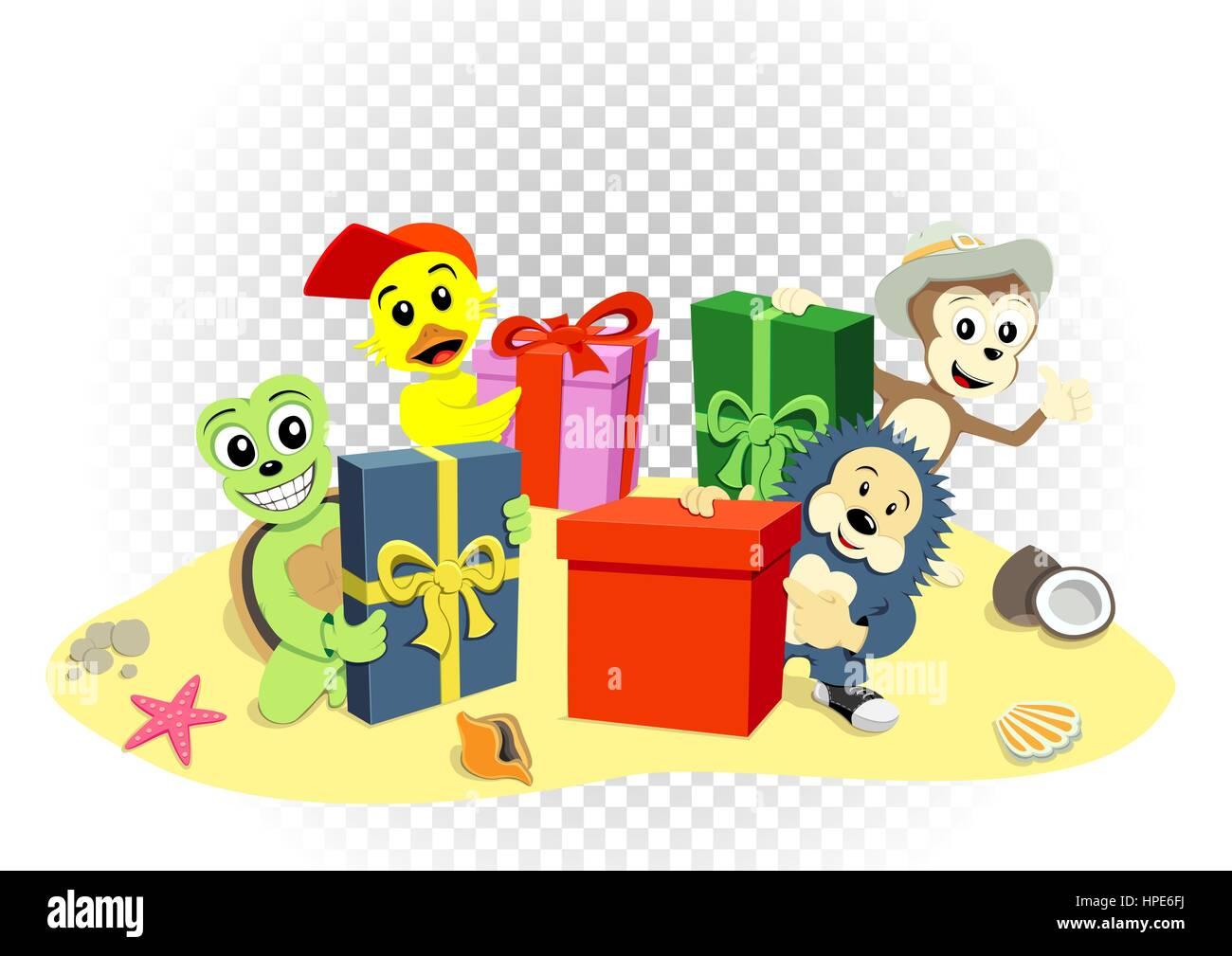 animal gifts transparent - Stock Image