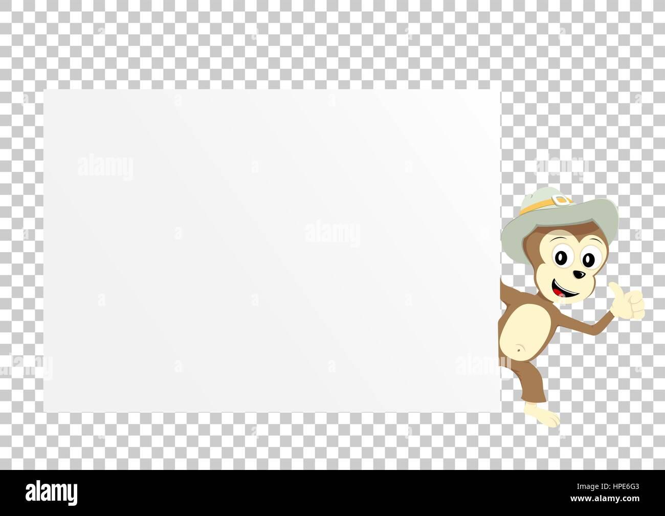 monkey paper transparent - Stock Image