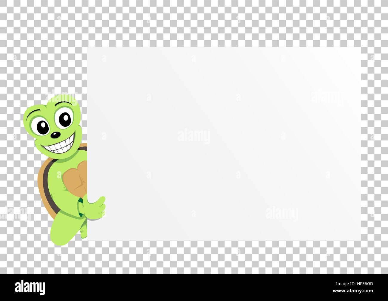 turtle paper transparent Stock Vector