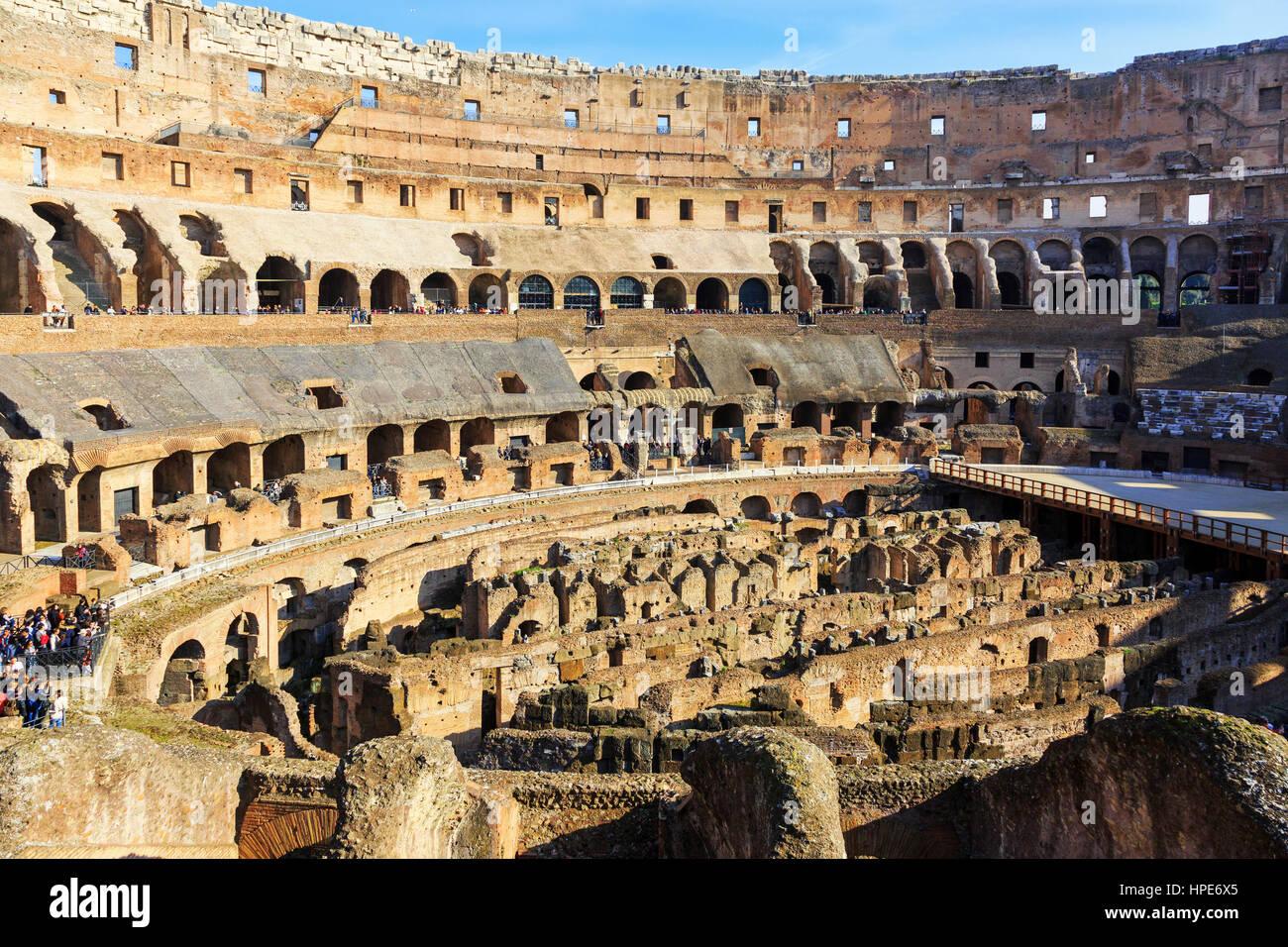 Colosseum, Via di San Gregorio, Rome, Italy - Stock Image