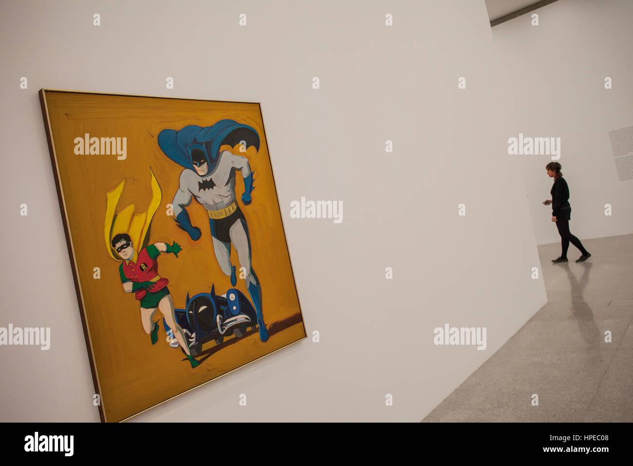 Batmobile by Mel Ramos, Museum Moderner Kunst, MUMOK, Museum of Modern Art, MuseumsQuartier, Vienna, Austria, Europe - Stock Image
