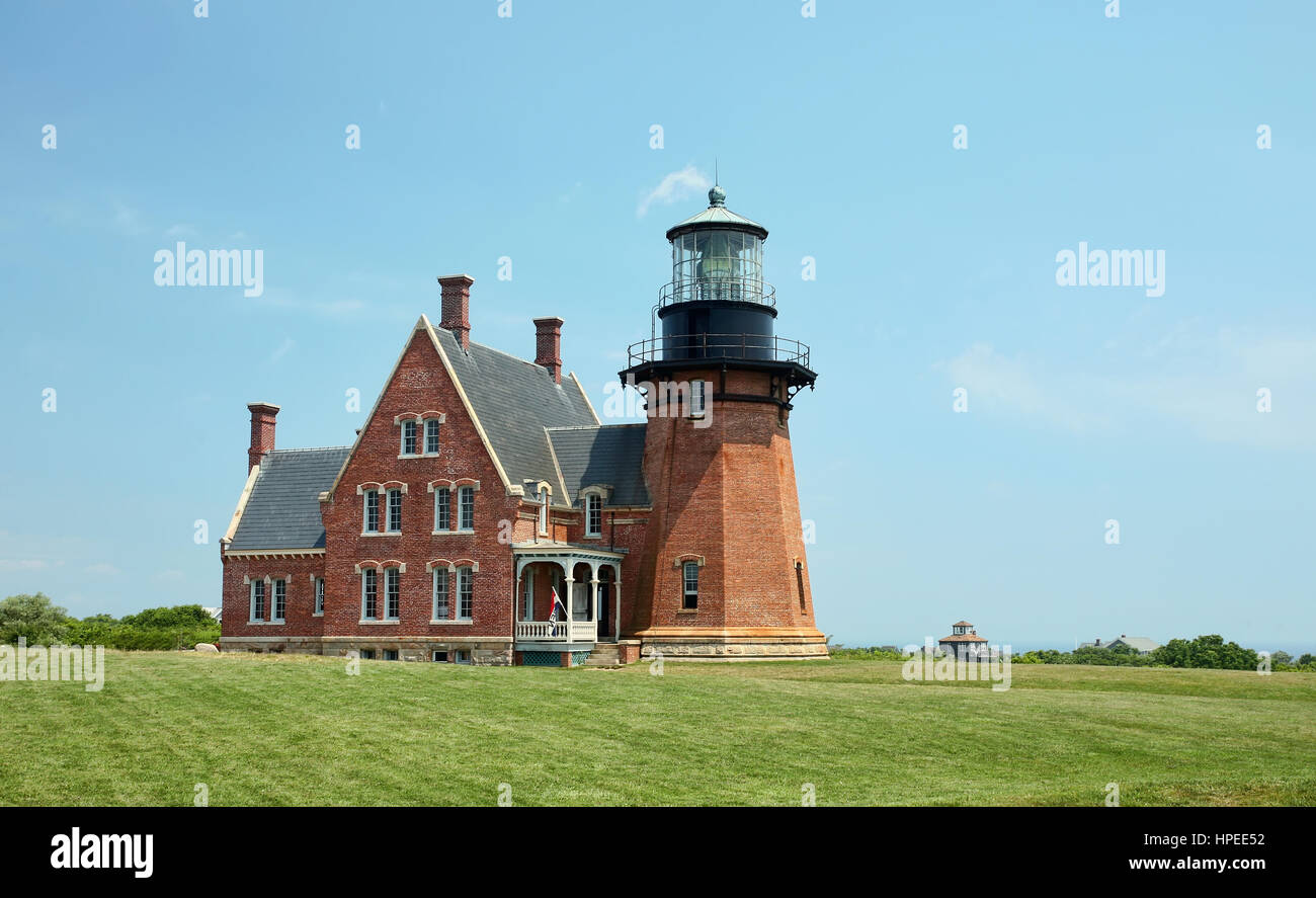 Southeast Lighthouse, Block Island, Rhode Island. - Stock Image