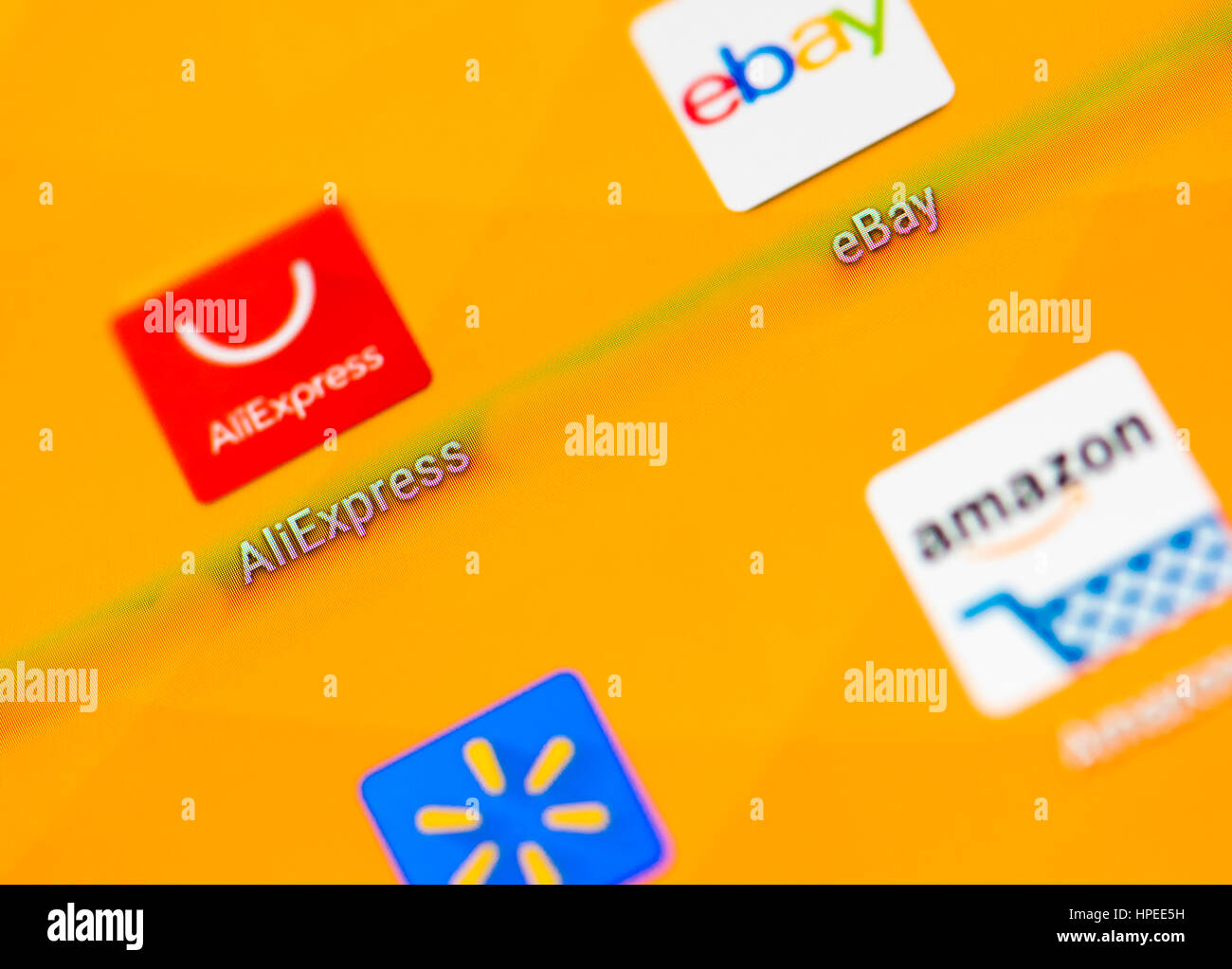 The Icons Of Aliexpress Ebay Amazon And Walmart Online Shopping
