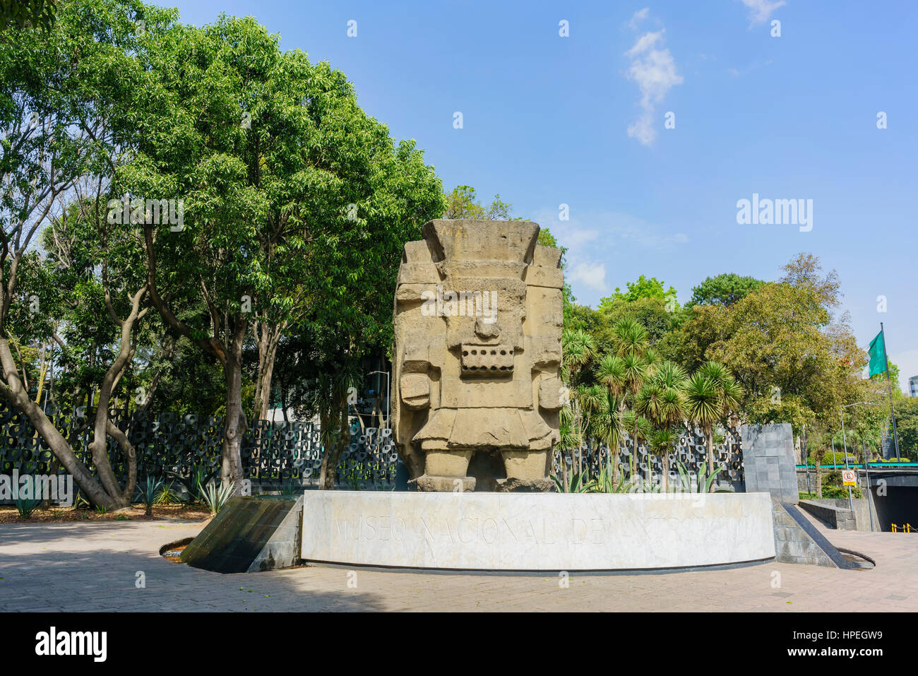 Mexico City, FEB 16: Entrance of the National Museum of Anthropology (Museo Nacional de Antropologia, MNA) on FEB - Stock Image