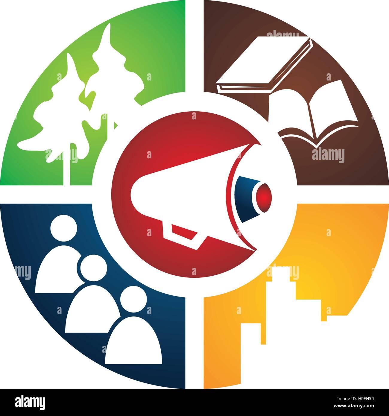 Student City Voice Logo - Stock Image