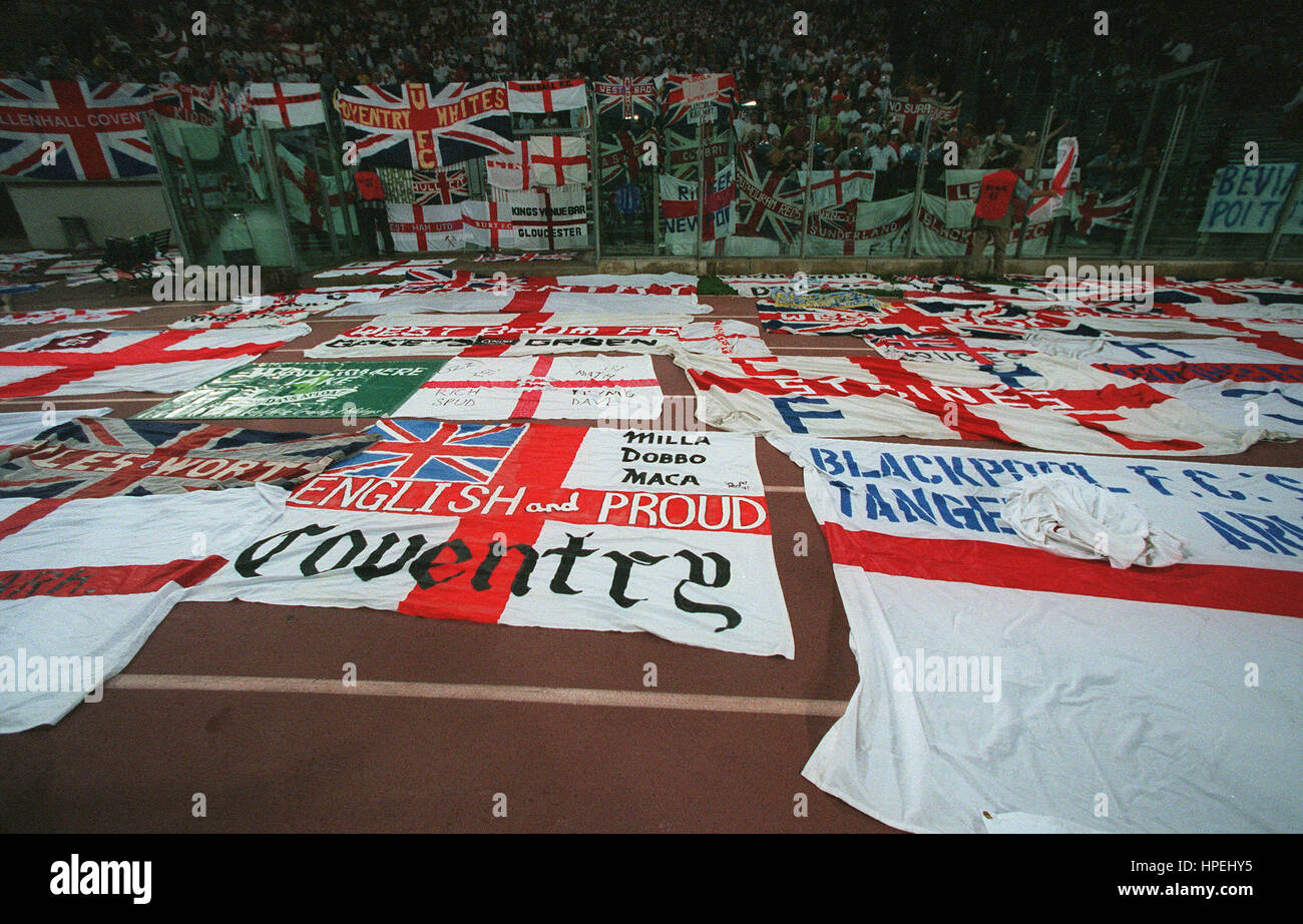 fans football flags england stock photos amp fans football