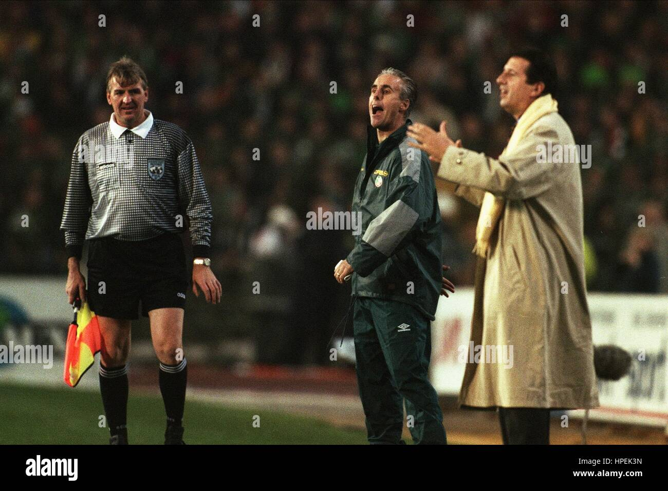 MCCARTHY ISSUES INSTRUCTIONS BELGIUM V REPUPLIC OF IRELAND 15 November 1997 - Stock Image