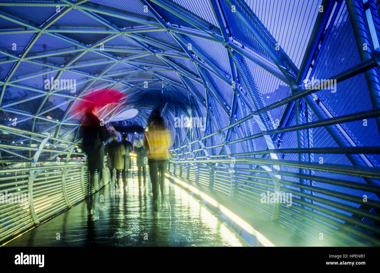 Inside of the Murinsel, Mur Island on Mur River, Graz, Austria, Europe - Stock Image