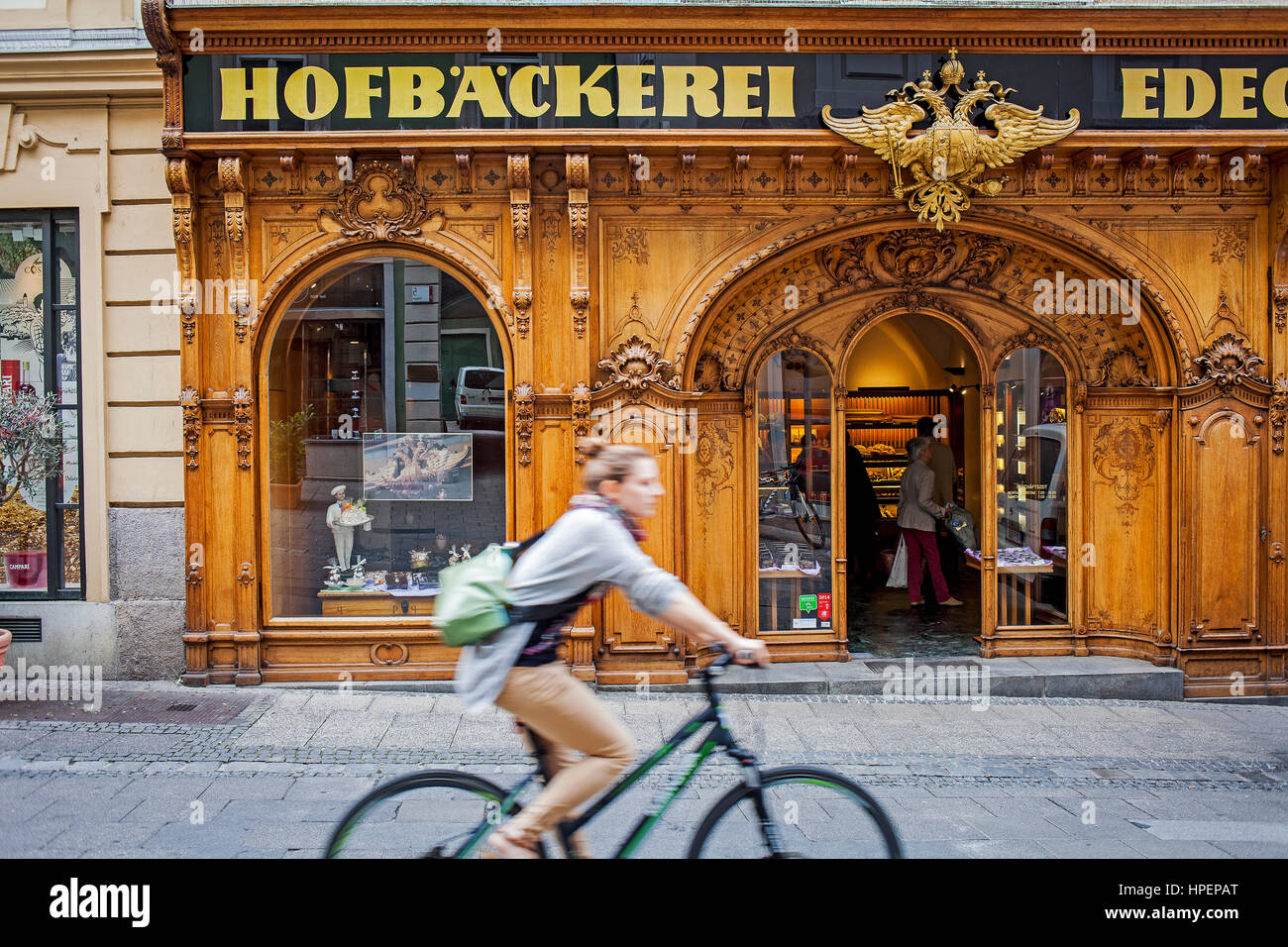 Hofbaeckerei Edegger-Tax in Hofgasse, court bakery, Graz, Austria, Europe Stock Photo