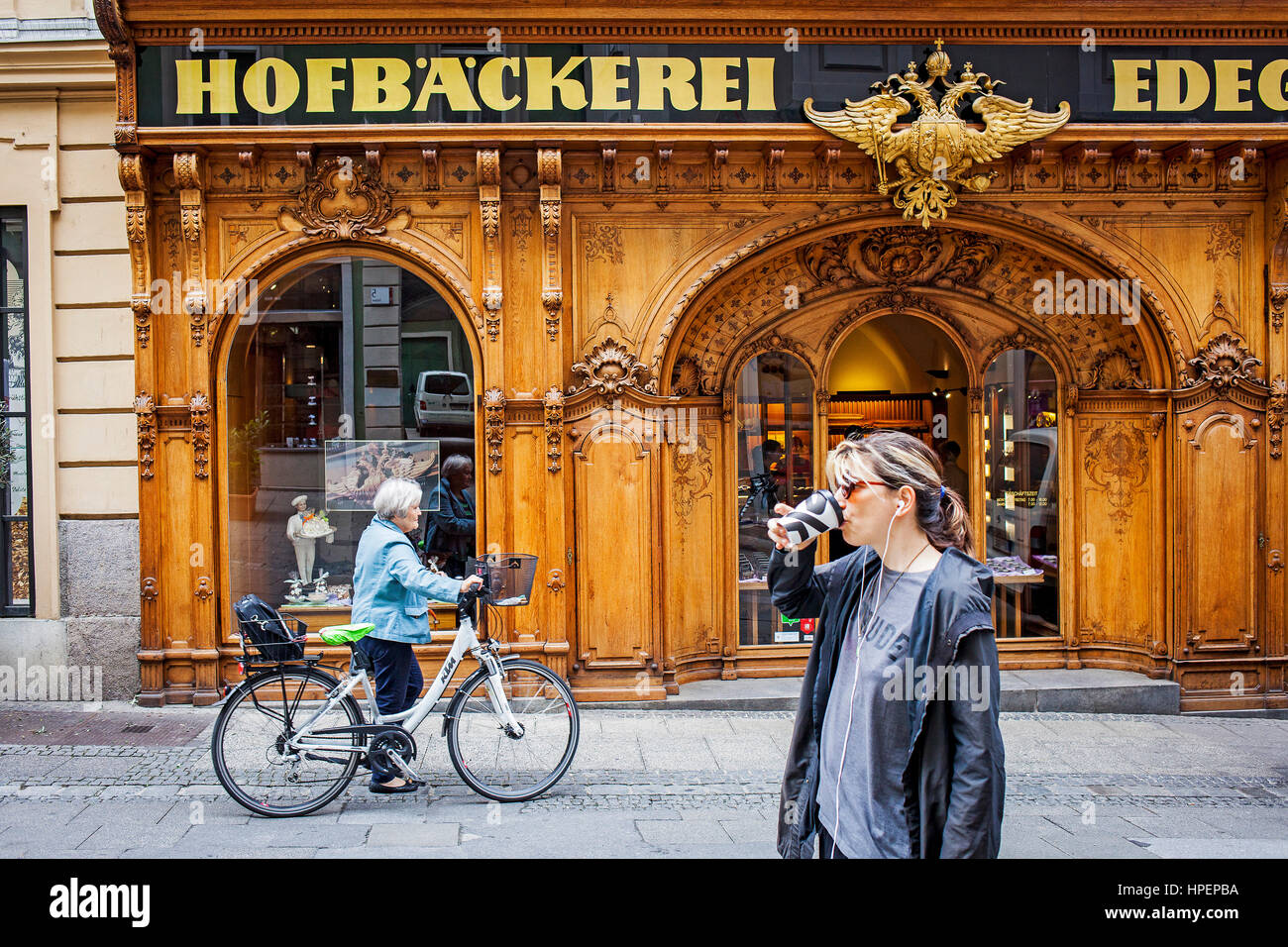 Hofbaeckerei Edegger-Tax in Hofgasse, court bakery, Graz, Austria, Europe Stock Photo