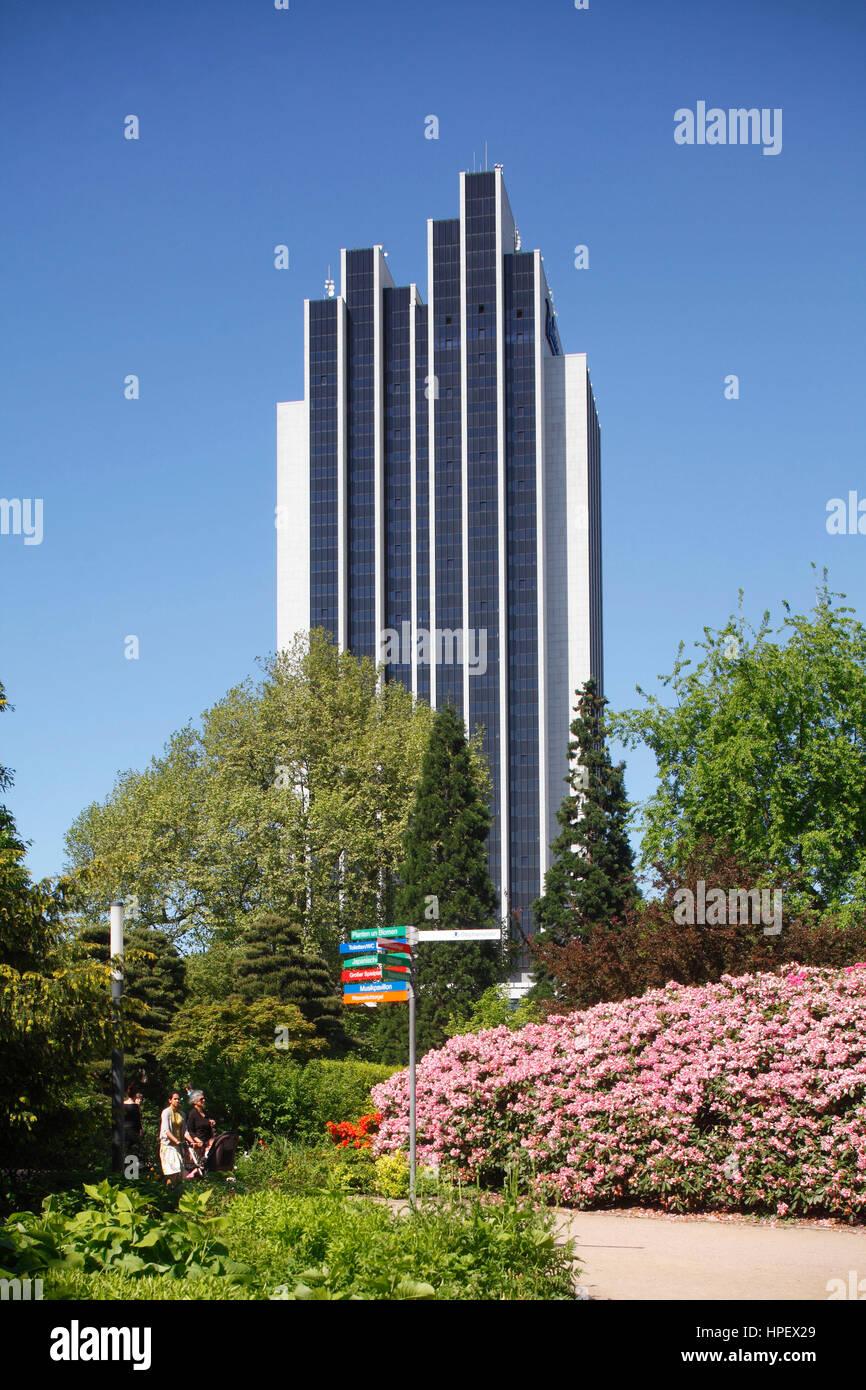 Radisson Blu Hotel and Park Planten un Blomen, Hamburg, Germany, Europe - Stock Image