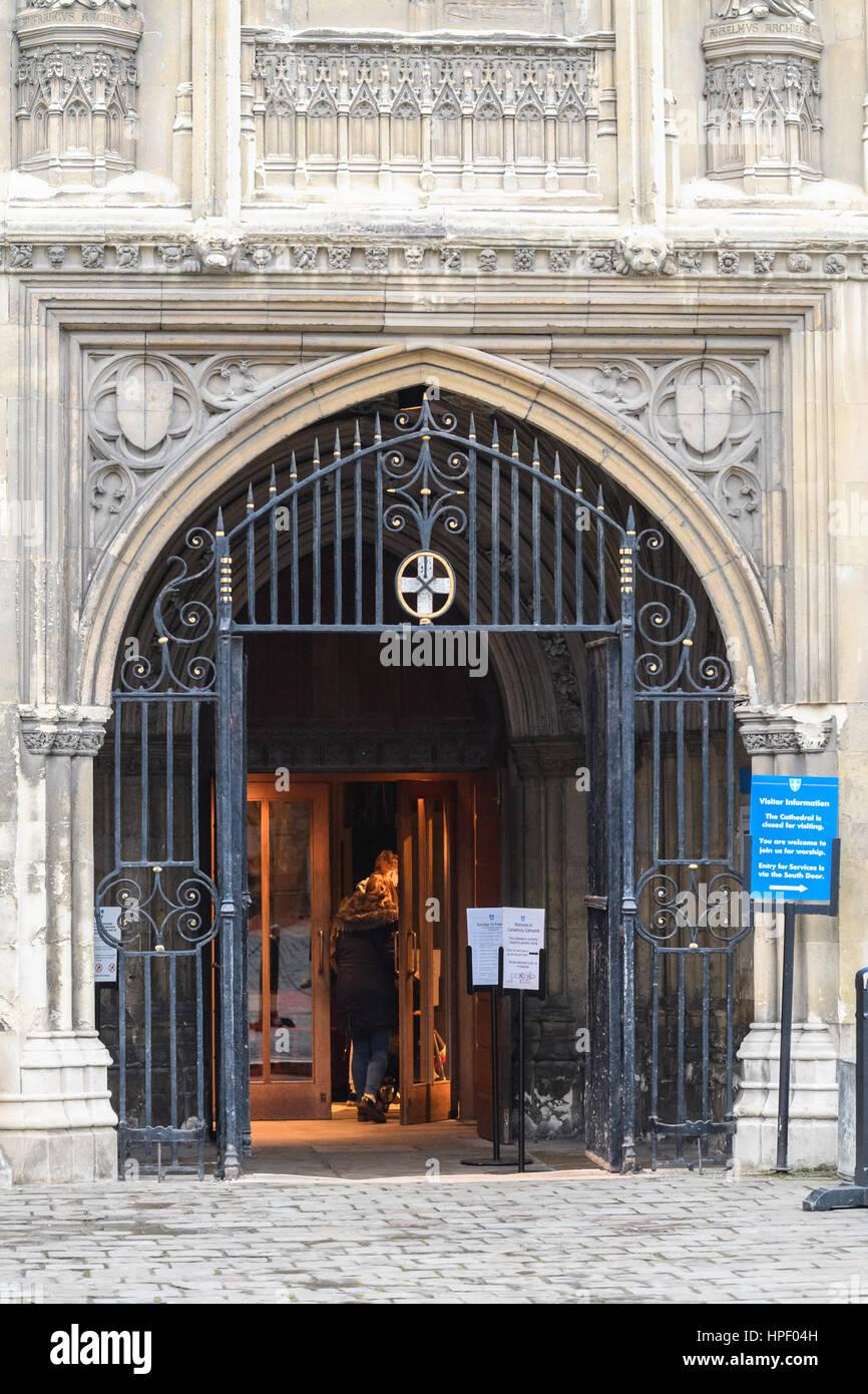 3af55fbaf633 Main entrance (south west door) at Canterbury cathedral