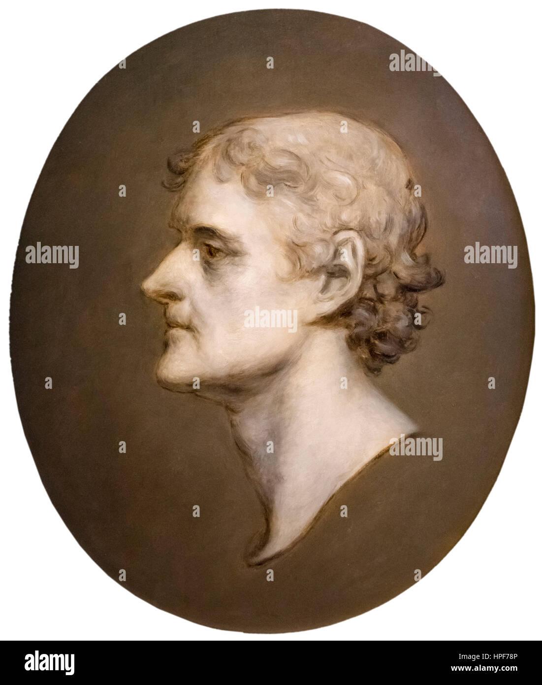 b0b165a57aaf Thomas Jefferson. Profile portrait of the 3rd US President