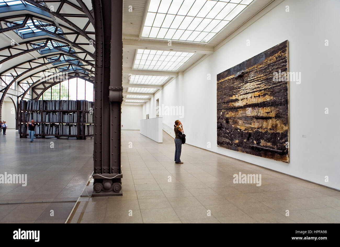Hamburger Bahnhof. Invalindenstr, 50. To the right picture of Anselm Kiefer.Berlin. Germany - Stock Image