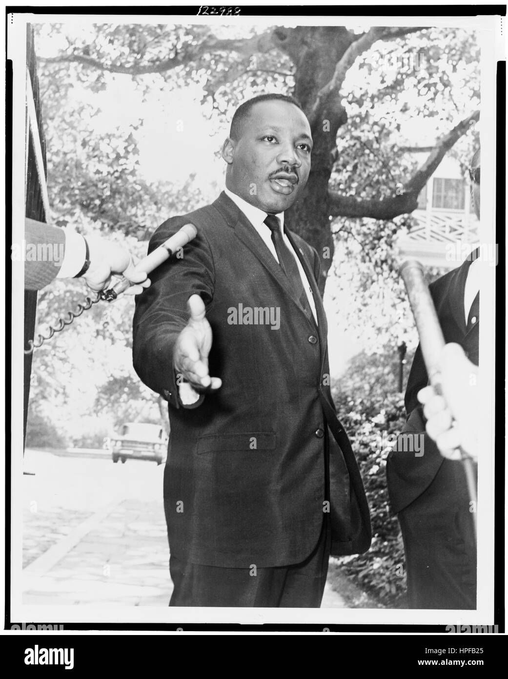 Rev Martin Luther King, Jr at Gracie Mansion press conference, New York, NY, 07/30/1964. Stock Photo