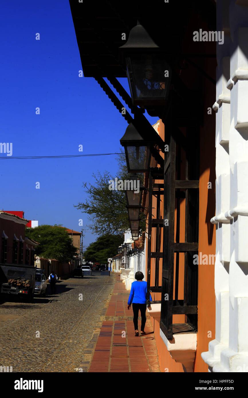 February 17, 2017 - Santa Ana  De Coro, Falcon, Venezuela - La ciudad de Santa Ana de Coro, mejor conocida como - Stock Image