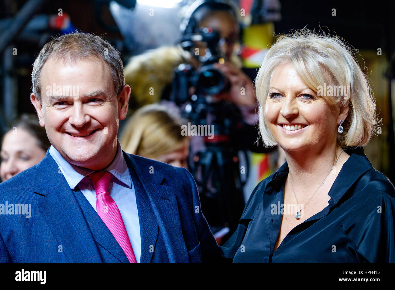 London, UK. 21st February, 2017. Hugh Bonneville and wife Lulu Williams attends the UK Premiere if VICEROY'S - Stock Image
