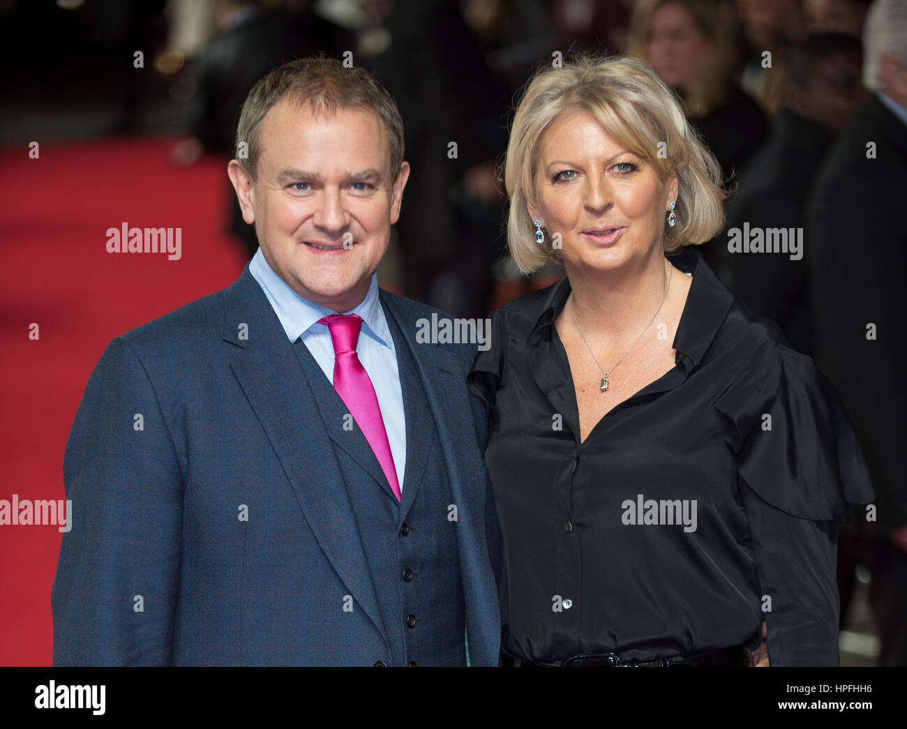 London, UK. 21st February, 2017. Hugh Bonneville and Lucinda Evans attends the UK Premiere of Viceroy's House - Stock Image