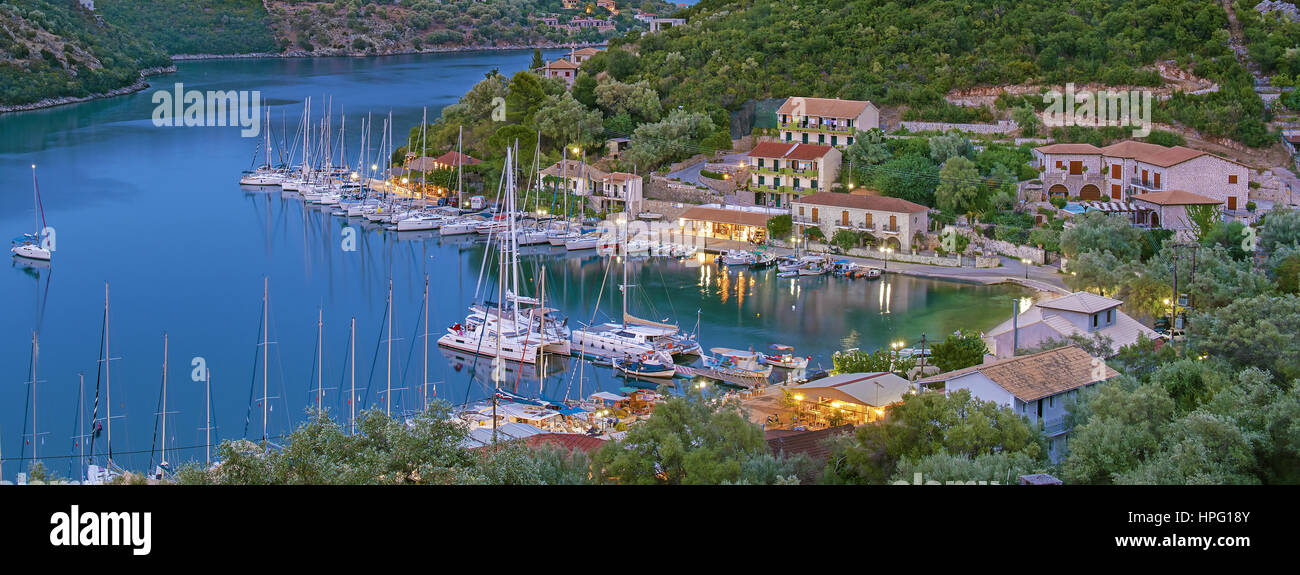 Syvota haven and resort at Lefkada isalnd, in the Ionian sea, Greece - Stock Image