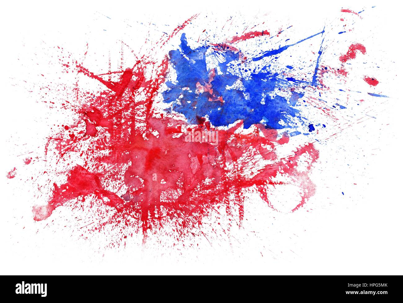 6524531823dc Splash emotional illustration with red and blue color blobs on white  background