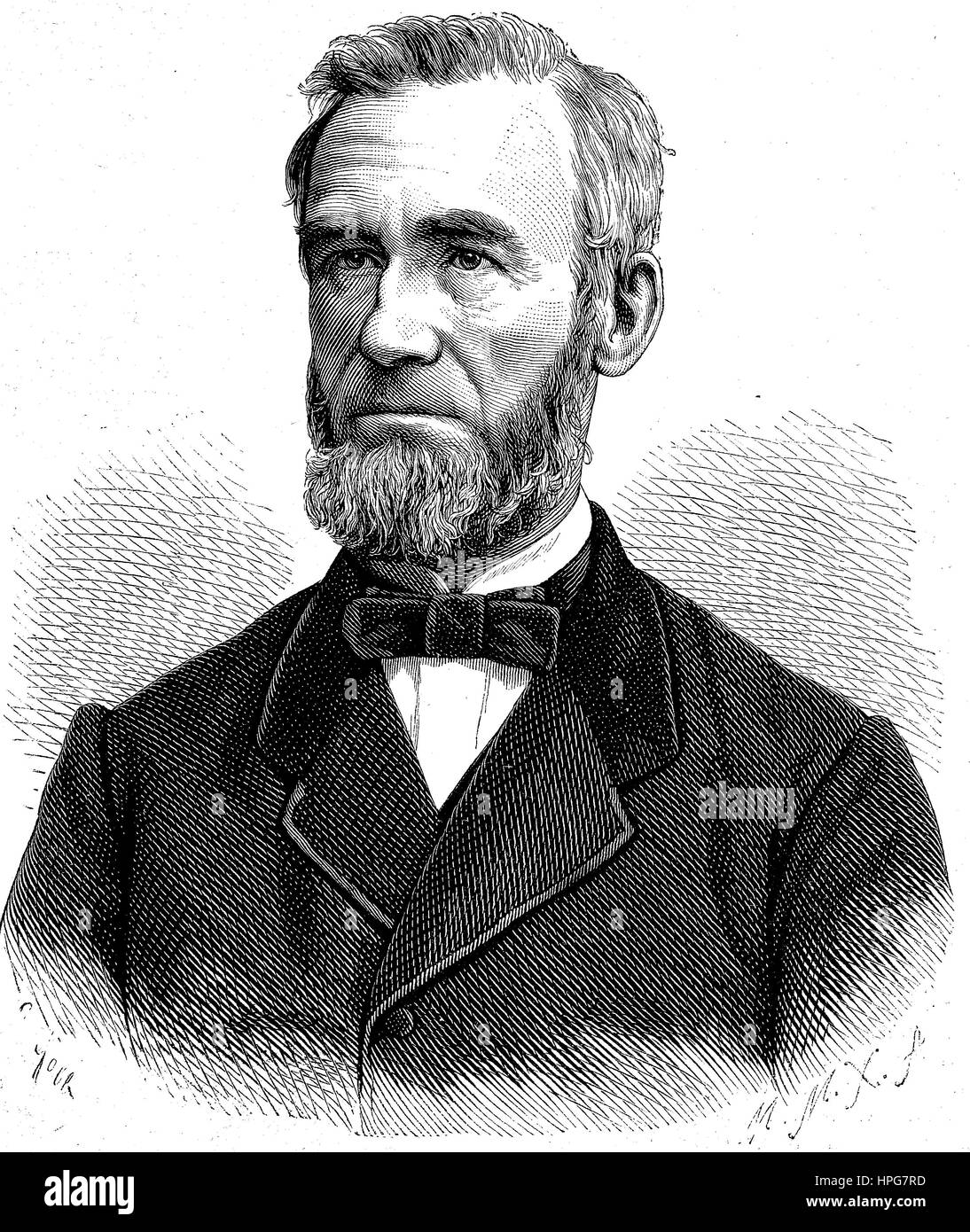 Bernhard Windscheid, 1817 - 1892, was a German jurist and a member of the pandectistic school of law thought, digital - Stock Image