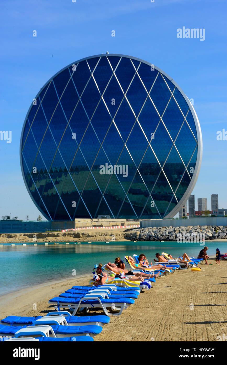 Aldar headquarters building stock photos aldar - Swimming pool construction companies in uae ...