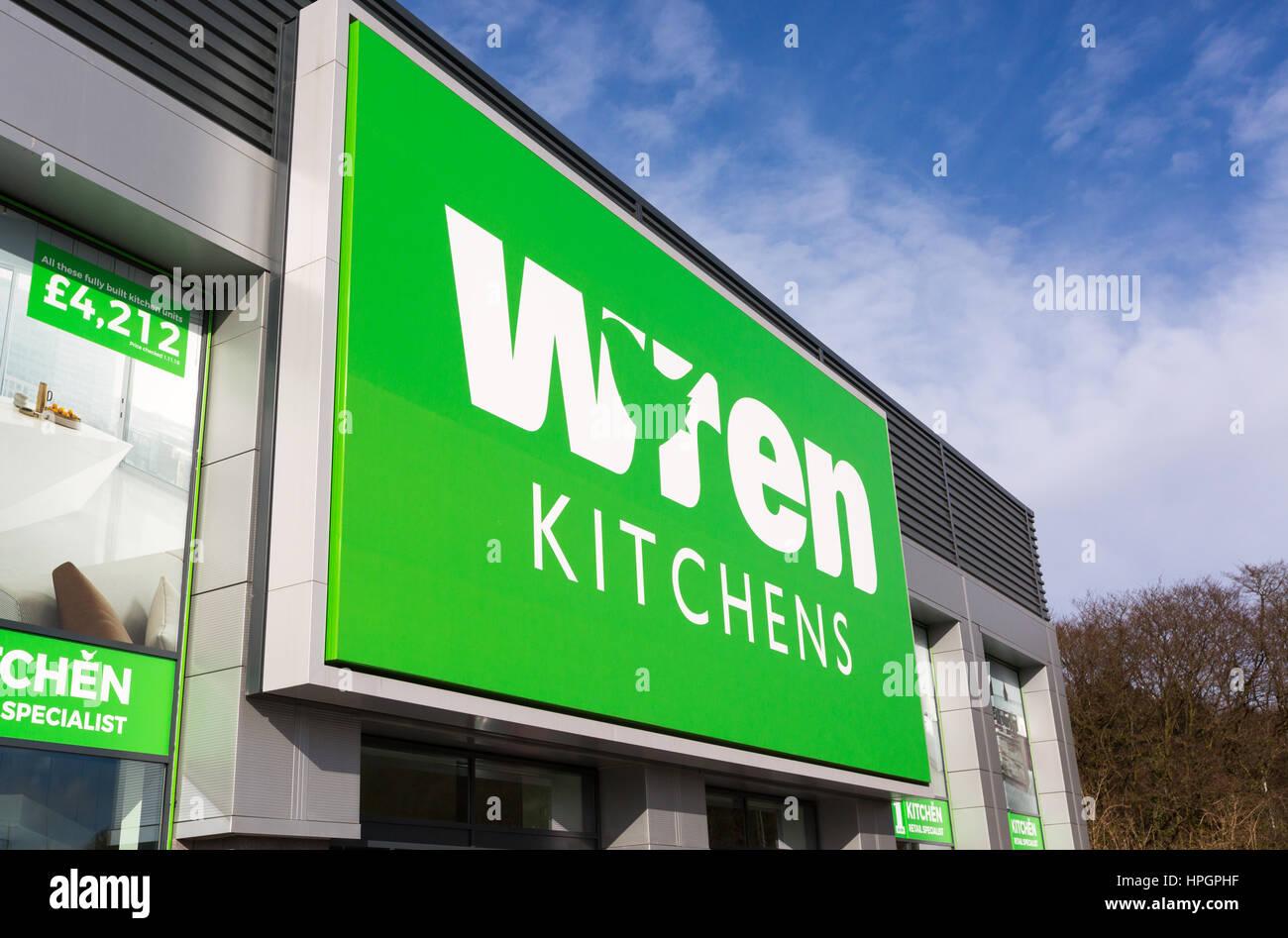 Wren Kitchens store in Roaring Meg retail park, Stevenage - Stock Image