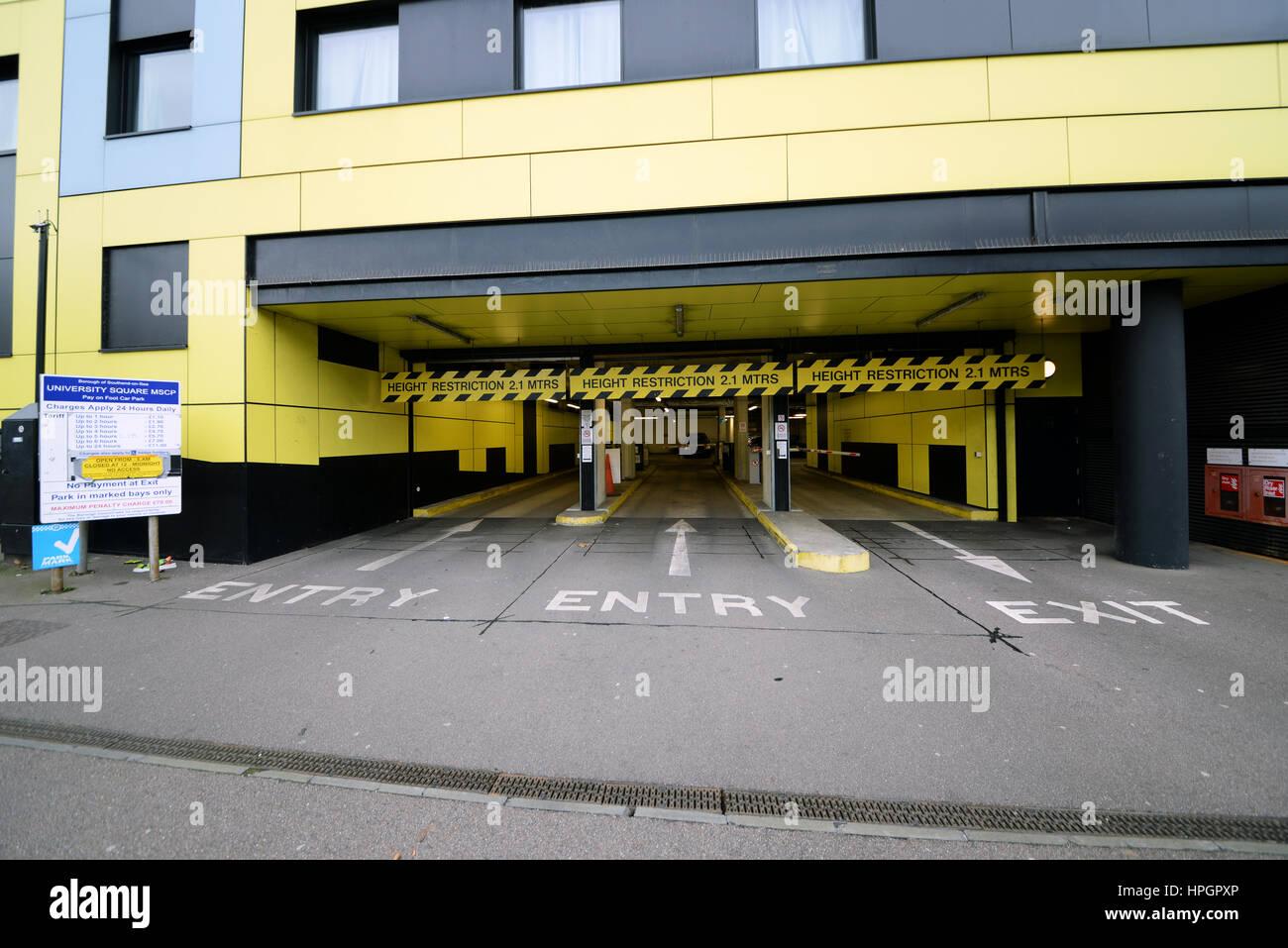 University Square Car Park Entrance