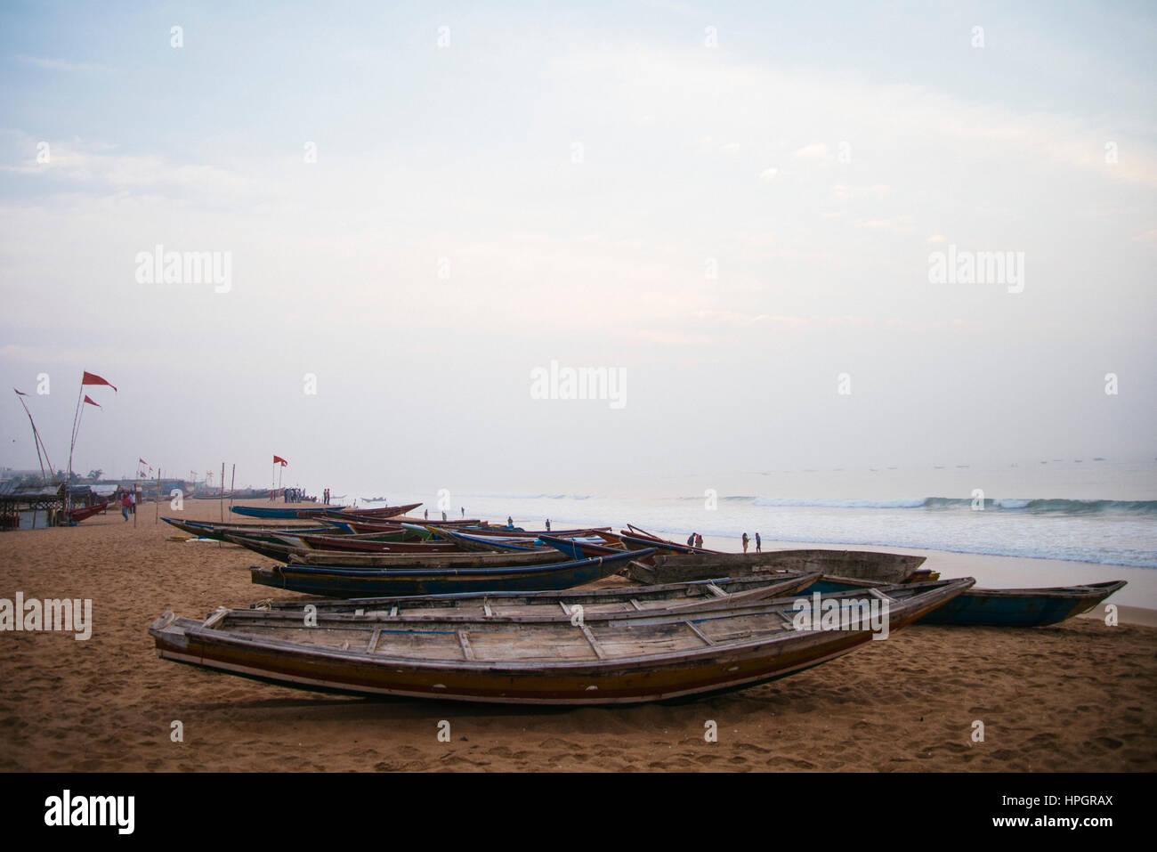 Fishing boats, Puri, India. Stock Photo