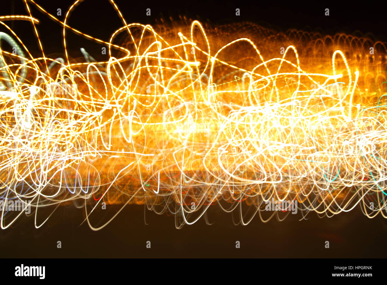 Chaotic motion of lights -  abstract photo  background - energy concept - Stock Image