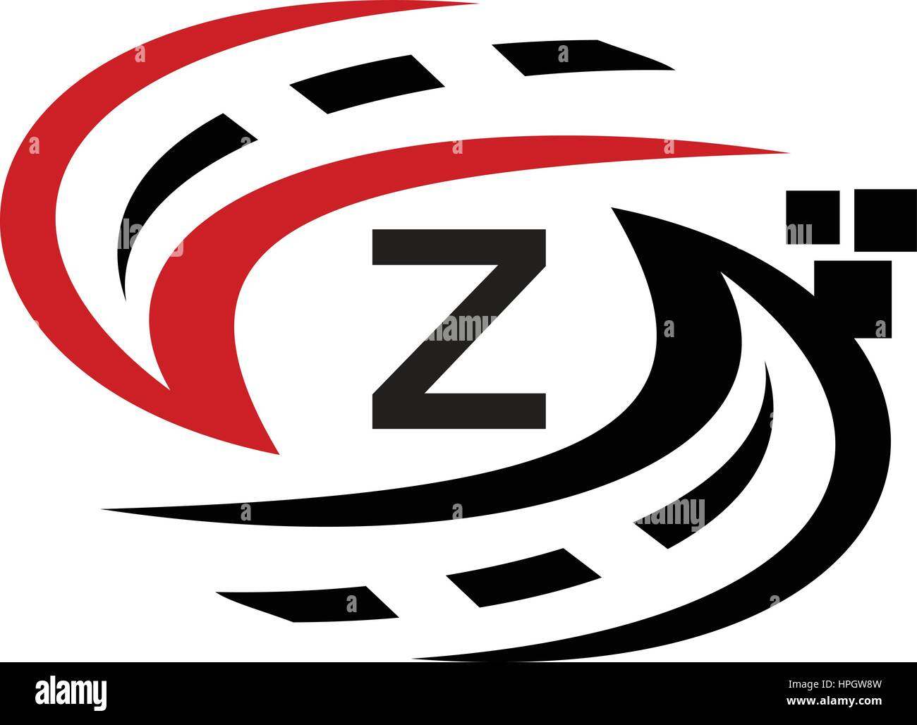 Applications Solutions Synergy Comprehensive Initial Z Stock Vector