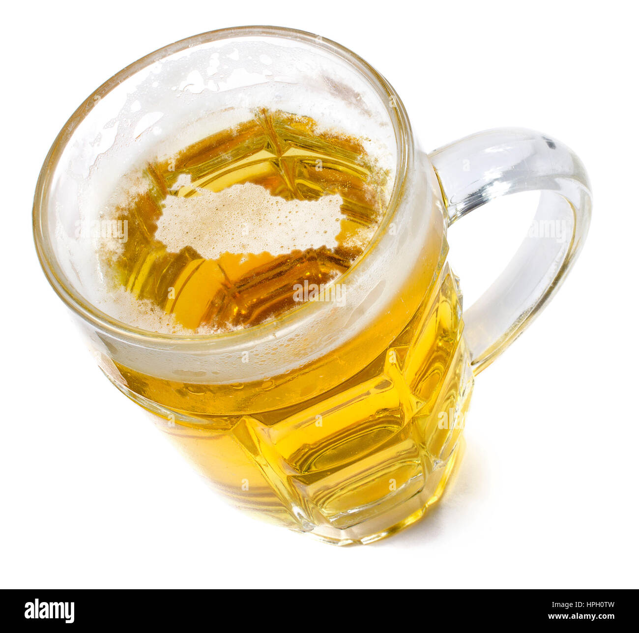 Beer head  in the shaped of Turkey and a beer.(series) Stock Photo
