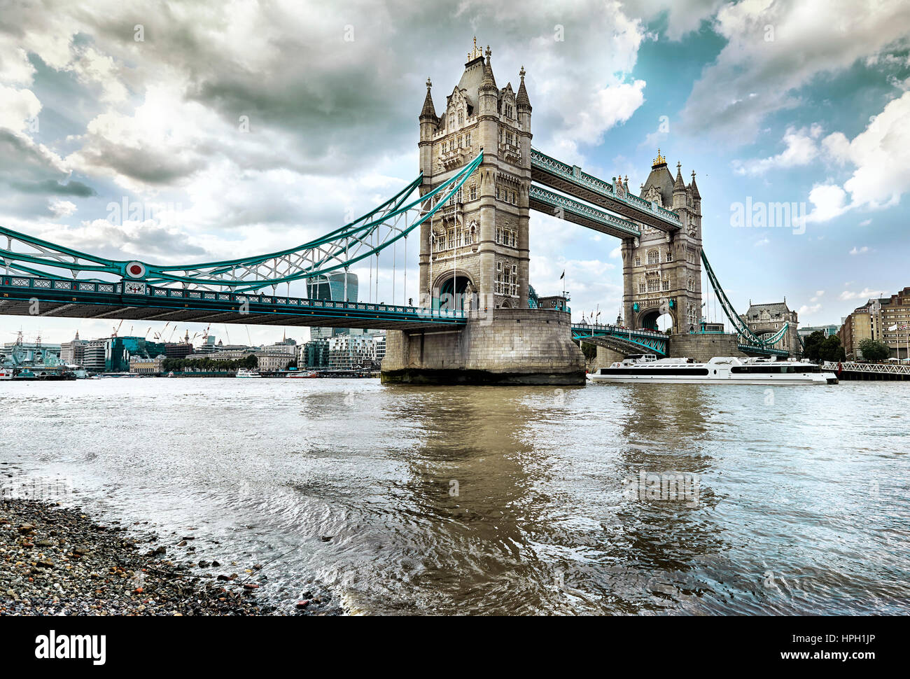 Tower Bridge, London, UK - Stock Image