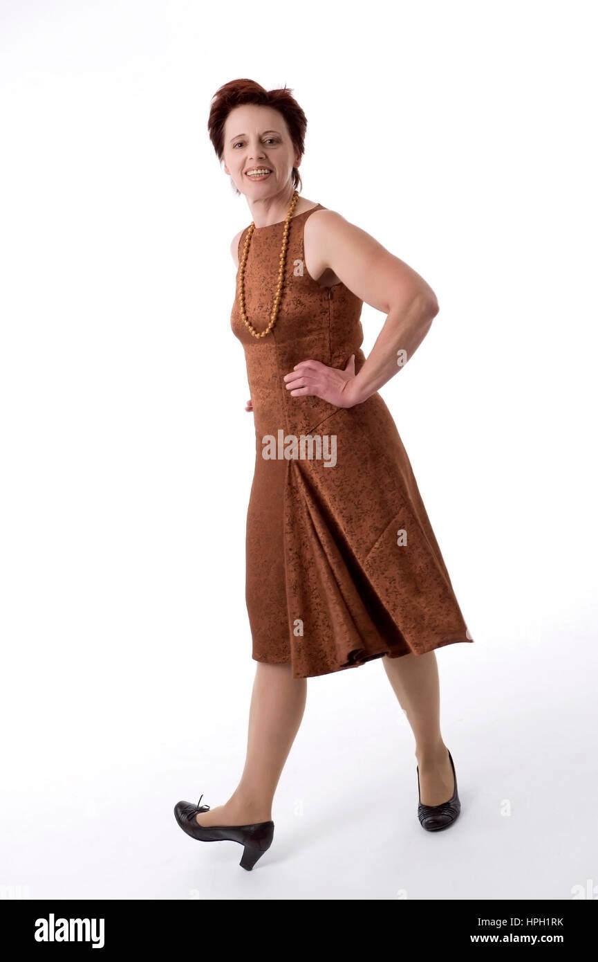 Model released , Frau, 16+, im Kleid - woman, in dress Stock Photo
